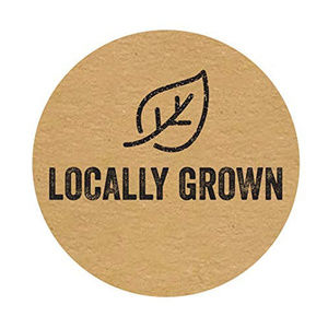 "Other - 500 round locally grown Stickers 1"" kraft labels"